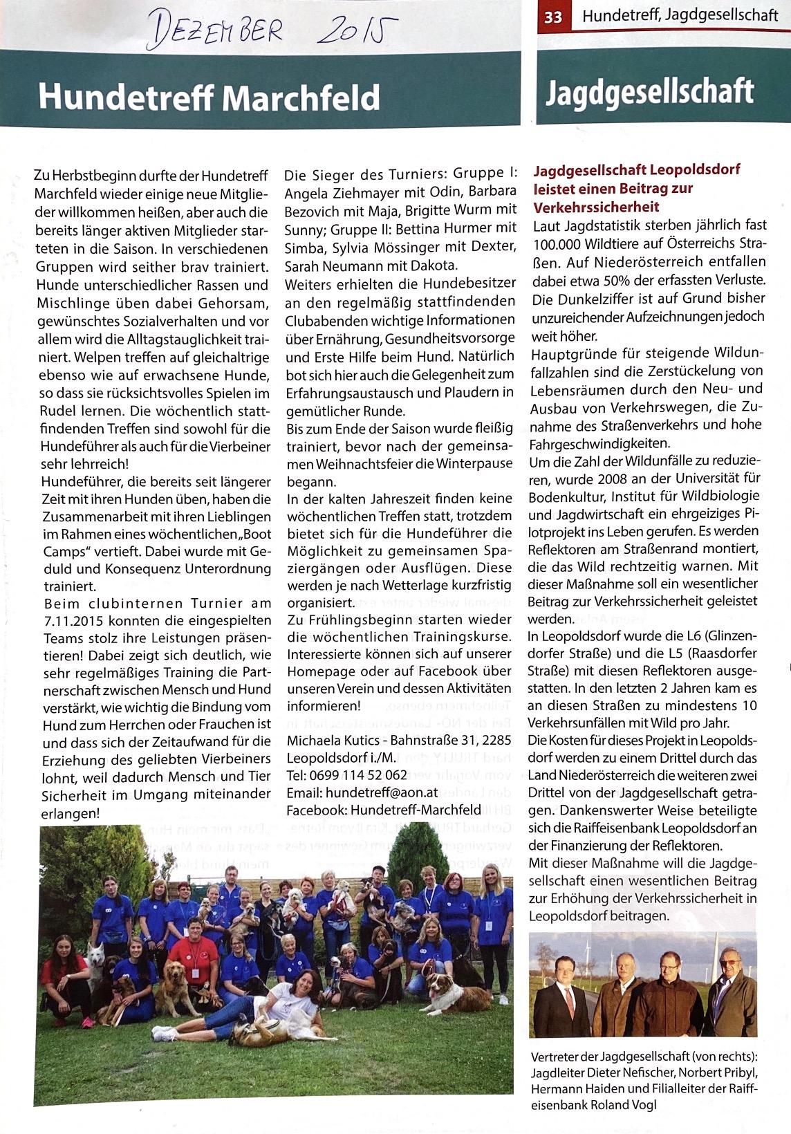 Gemeindezeitung 2015